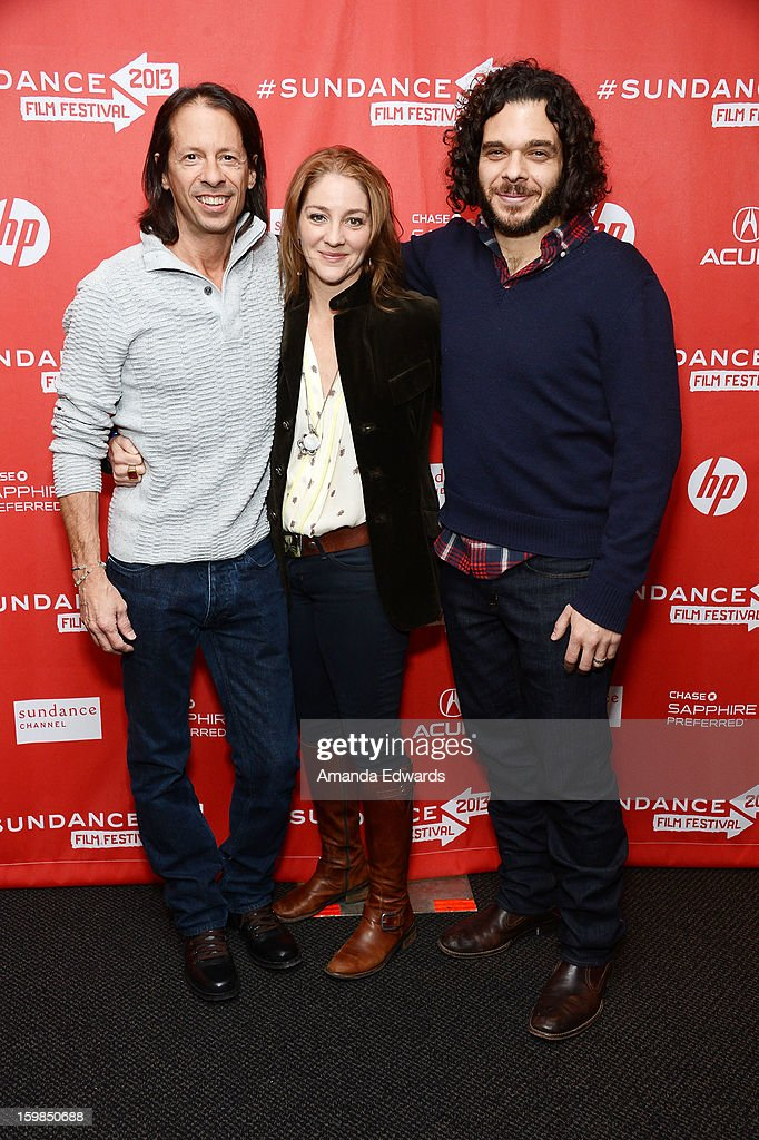 Editor Jeff Consiglio and directors Andrea Nix Fine and Sean Fine arrive at the 2013 Sundance Film Festival Premiere of 'Life According To Sam' at Temple Theater on January 21, 2013 in Park City, Utah.