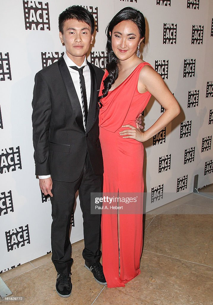 Editor Jeremy Hung (L) and guest arrive at the 63rd Annual ACE Eddie Awards held at The Beverly Hilton Hotel on February 16, 2013 in Beverly Hills, California.