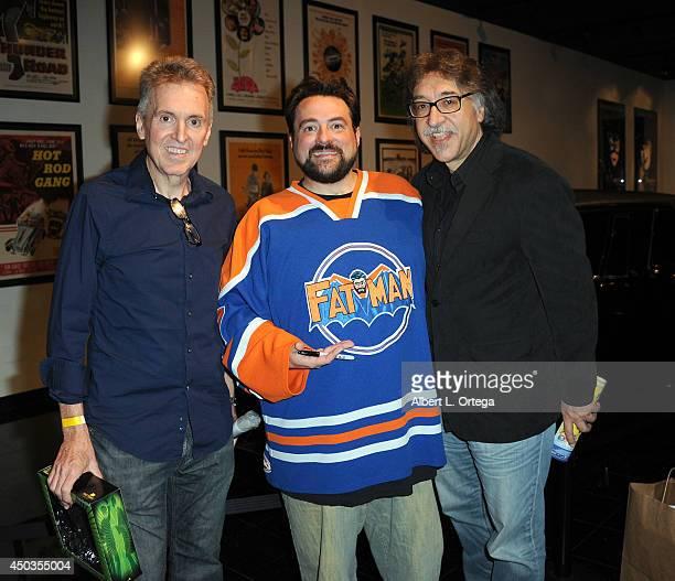 Editor Jim Chadwick writer/host Kevin Smith and artist Ruben Procopio at the 'Batman 66 Meets The Green Hornet' Comic Book Kickoff Fatman On Batman...