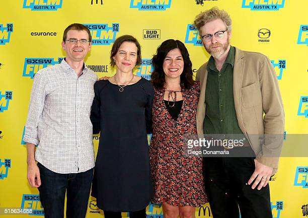 Editor Jim Isler writer/directors Lisa Robinson and Annie J Howell and cinematographer Andreas Burgess attend the premiere of 'Claire in Motion'...