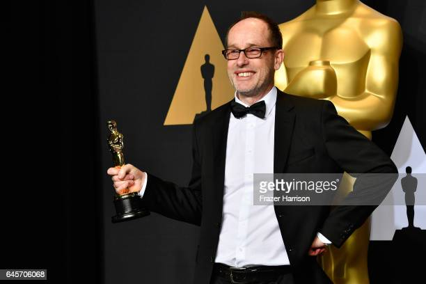 Editor John Gilbert winner of Best Film Editing for 'Hacksaw Ridge' poses in the press room during the 89th Annual Academy Awards at Hollywood...