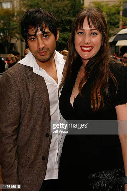 Editor John Gutierrez and Director Adria Petty arrives at the 'Paris Not France' film premiere held at Ryerson Theatre during the 2008 Toronto...