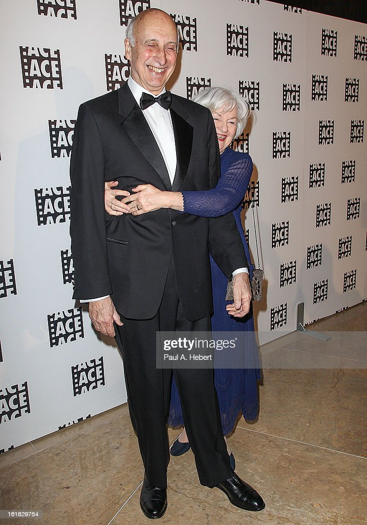 Editor Larry Silk, A.C.E. and wife arrive at the 63rd Annual ACE Eddie Awards held at The Beverly Hilton Hotel on February 16, 2013 in Beverly Hills, California.