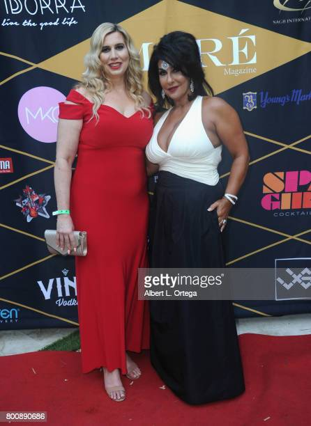 Editor Leah Bergman and guest attend the Amare Magazine 1st Year Anniversary Issue Release Soiree held at a Private Residence on June 24 2017 in...