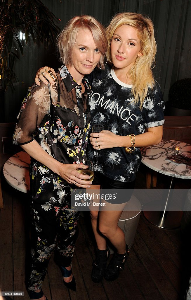 ELLE editor Lorraine Candy (L) and <a gi-track='captionPersonalityLinkClicked' href=/galleries/search?phrase=Ellie+Goulding&family=editorial&specificpeople=6389309 ng-click='$event.stopPropagation()'>Ellie Goulding</a> attend the ELLE Magazine drinks reception celebrating London Fashion Week SS14 at the Sanderson Hotel on September 12, 2013 in London, England.