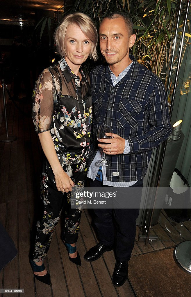 ELLE editor Lorraine Candy (L) and Richard Nicoll attend the ELLE Magazine drinks reception celebrating London Fashion Week SS14 at the Sanderson Hotel on September 12, 2013 in London, England.