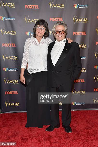 Editor Margaret Sixel and director George Miller attend the 5th AACTA International Awards at Avalon Hollywood on January 29 2016 in Los Angeles...