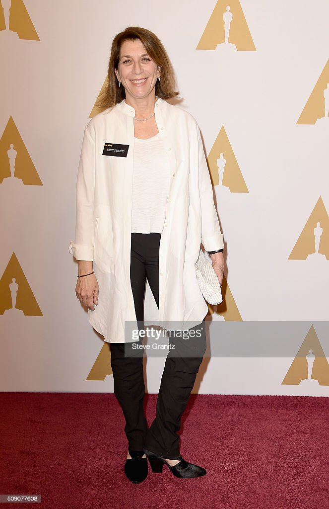 Editor <a gi-track='captionPersonalityLinkClicked' href=/galleries/search?phrase=Maryann+Brandon&family=editorial&specificpeople=6740544 ng-click='$event.stopPropagation()'>Maryann Brandon</a> attends the 88th Annual Academy Awards nominee luncheon on February 8, 2016 in Beverly Hills, California.