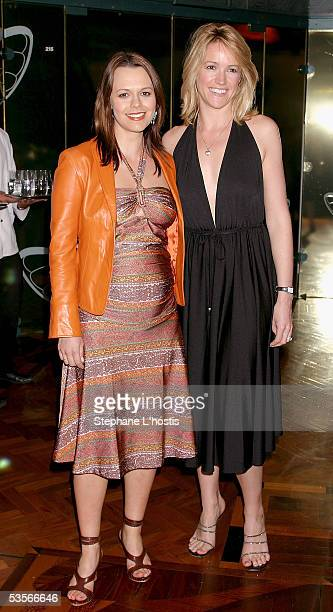 Editor Mia Freedman and TV presenter Leila McKinnon attend the 10th anniversary dinner for Napoleon Perdis Cosmetics on August 31 2005 in Sydney...