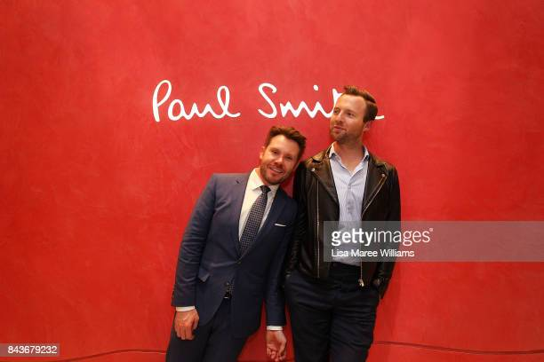 GQ Editor Nick Smith and Managing Editor Michael Christensen visit a Paul Smith store during Vogue American Express Fashion's Night Out 2017 on...