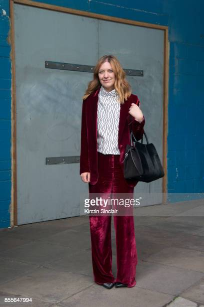 Editor of British Grazia Natalie Pearlman on day 2 of London Womens Fashion Week Spring/Summer 2018 on September 16 2017 in London England
