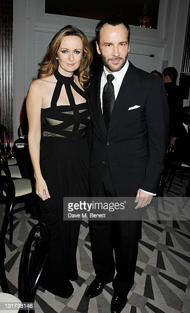 Editor of Harper's Bazaar UK Lucy Yeomans and designer Tom Ford attend the Harper's Bazaar Women Of The Year Awards in association with Estee Lauder...