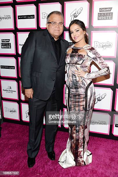 Editor of People en Espanol Armando Correa and actress and model Danna Garcia attend People En Espanol's 50 Most Beautiful 2013 at Marquee on May 13...