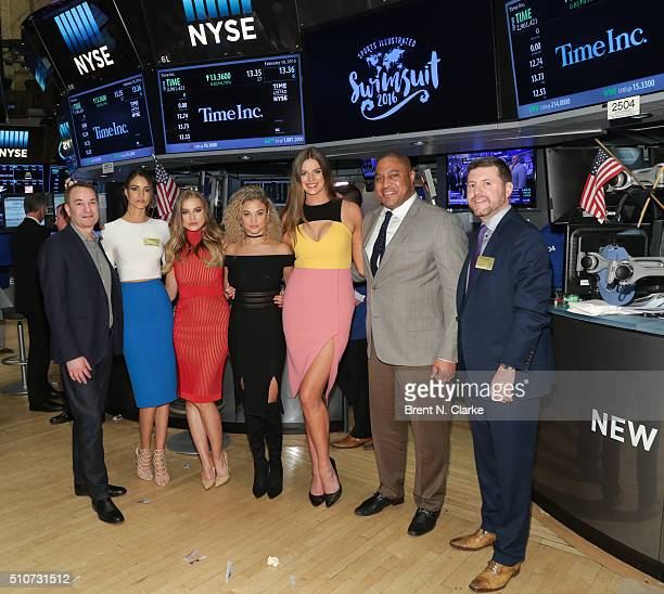 Editor of Sports Illustrated Group Paul Fichtenbaum Sports Illustrated Swimsuit models Sofia Resing Tanya Mityushina Rose Bertram Robyn Lawley NYSE...
