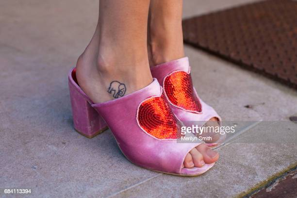 Editor of Subvert Magazine Sarah Nicolette wearing Dolls Kill shoes during MercedesBenz Fashion Week Resort 18 Collections at Carriageworks on May 17...