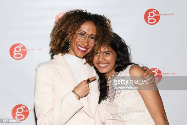 Editor of Teen Vogue Elaine Welteroth and Girls Write Now mentee Daleelah Saleh attend the Fifth Annual Girls Write Now Awards at City Winery on May...