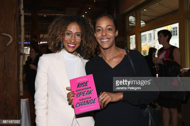 Editor of Teen Vogue Elaine Welteroth and Lisa Lucas attend the Fifth Annual Girls Write Now Awards at City Winery on May 23 2017 in New York City