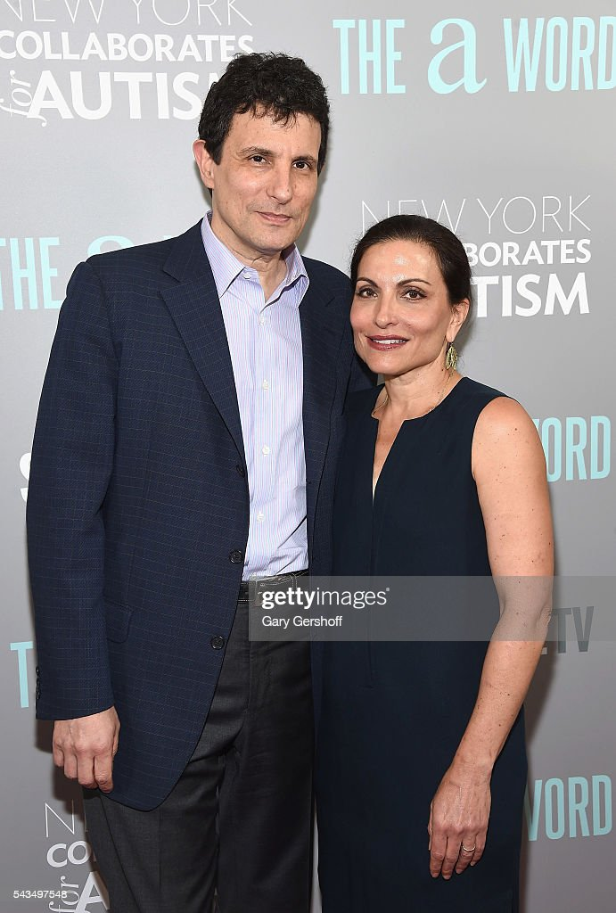 Editor of The New Yorker, David Remnick and wife Esther Fein attend 'The A Word' New York screening at Museum Of Arts And Design on June 28, 2016 in New York City.