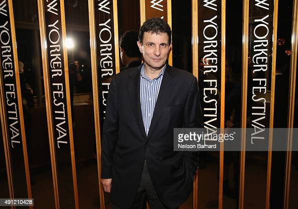 "Editor of The New Yorker David Remnick attends the 2015 New Yorker Festival ""Wrap Party"" hosted by David Remnick at the top of the Standard Hotel 848..."