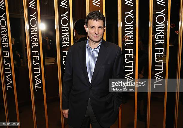 """Editor of The New Yorker David Remnick attends the 2015 New Yorker Festival """"Wrap Party"""" hosted by David Remnick at the top of the Standard Hotel 848..."""