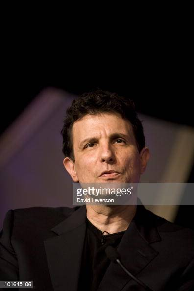 Editor of the New Yorker David Remnick looks while on stage at The Hay Festival on June 5 2010 in HayonWye Wales