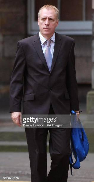 Editor of the Scottish News of the World Bob Bird leaves the Court of Session in Edinburgh where former Scottish Socialist leader Tommy Sheridan...
