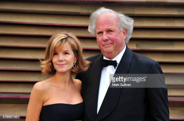 Editor of Vanity Fair Graydon Carter and Anna Scott Carter attend the 2014 Vanity Fair Oscar Party hosted by Graydon Carter on March 2 2014 in West...
