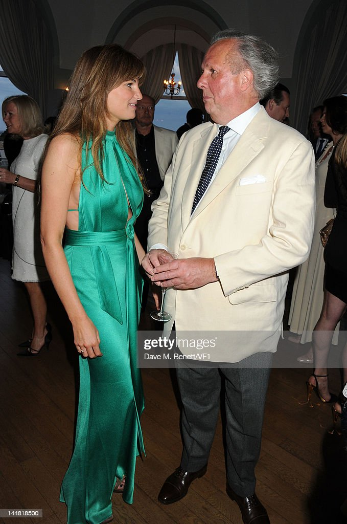 Editor of Vanity Fair Graydon Carter (R) and Jemima Khan attend the Vanity Fair And Gucci Party during the 65th Annual Cannes Film Festival at Hotel Du Cap on May 19, 2012 in Antibes, France.