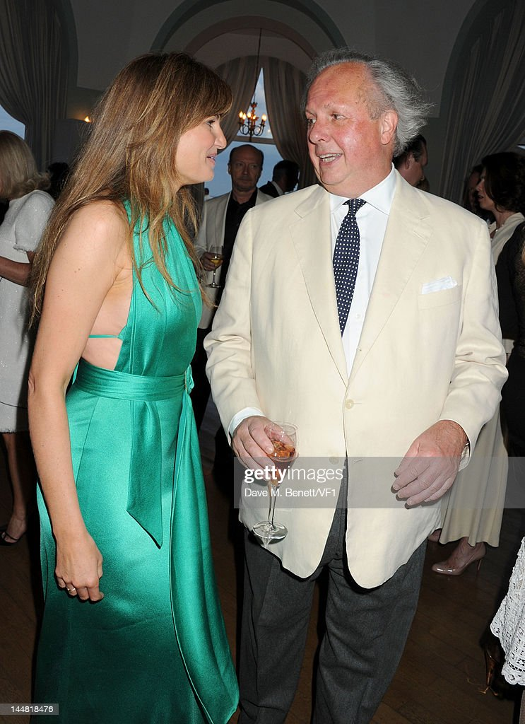 Editor of Vanity Fair Graydon Carter and Jemima Khan attends the Vanity Fair And Gucci Party during the 65th Annual Cannes Film Festival at Hotel Du Cap on May 19, 2012 in Antibes, France.