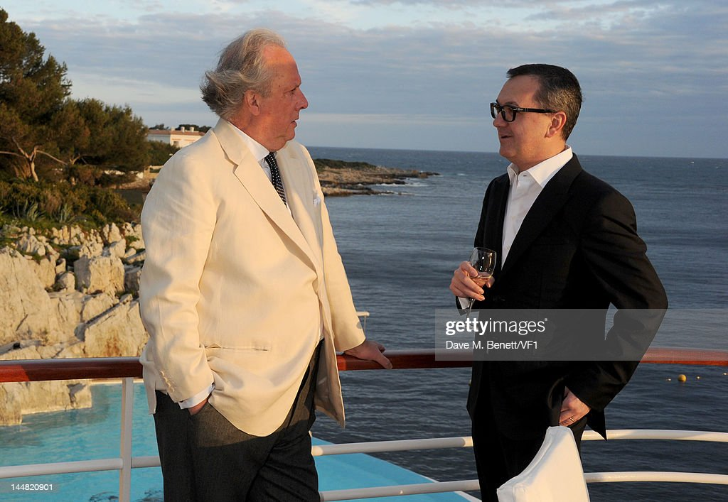 Editor of Vanity Fair Graydon Carter (L) and Luca Dini attend the Vanity Fair And Gucci Party during the 65th Annual Cannes Film Festival at Hotel Du Cap on May 19, 2012 in Antibes, France.