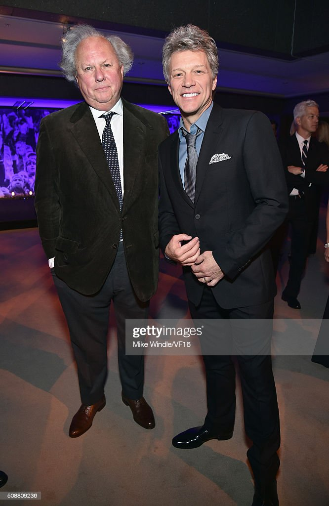 Editor of Vanity Fair Graydon Carter and recording artist Jon Bon Jovi attend the Vanity Fair Super Bowl Party hosted by Graydon Carter Jon Bon Jovi...
