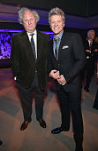 Editor of Vanity Fair Graydon Carter and recording artist Jon Bon Jovi attend the Vanity Fair Super Bowl Party hosted by Graydon Carter Jon Bon Jovi...