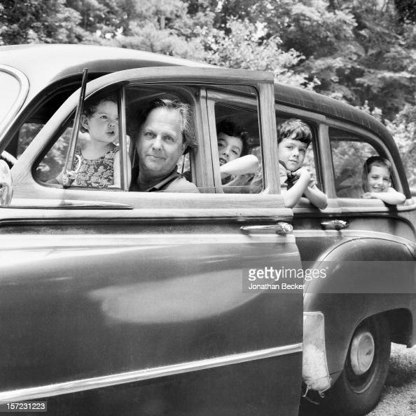 Editor of Vanity Fair Graydon Carter is photographed with children Bronwen Max Spike and Ash for Vanity Fair Magazine in June 1995 in Roxbury...