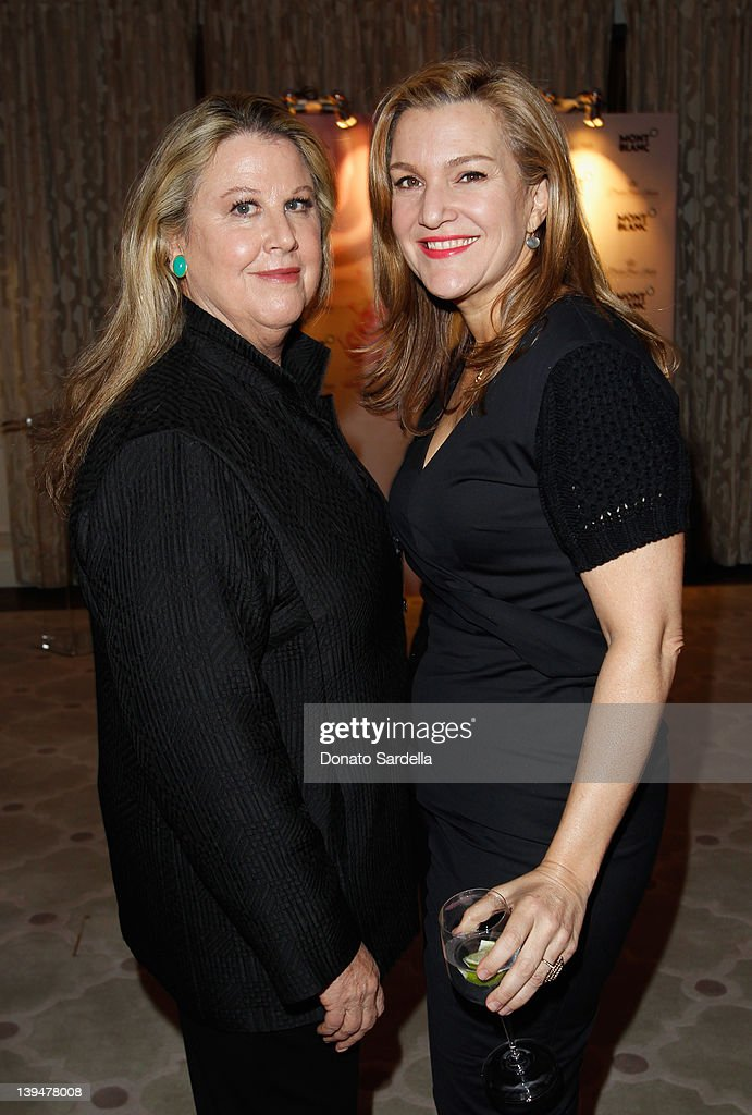 LA Editor of Vanity Fair Wendy Stark-Morrissey (L) and Vanity Fair West Coast editor Krista Smith attend the Vanity Fair Montblanc party celebrating The Collection Princesse Grace de Monaco held at Hotel Bel-Air Los Angeles on February 21, 2012 in Los Angeles, California.