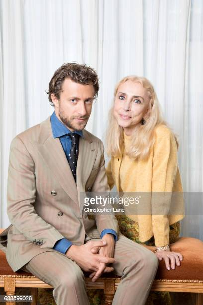 Editor of Vogue Italia Franca Sozzani and son/film director Francesco Carrozzini are photographed for The Guardian Magazine on October 14 2016 in New...