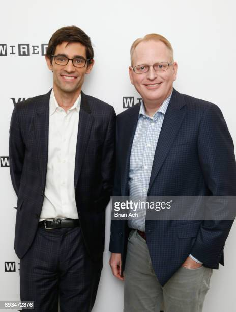 Editor of WIRED Nicholas Thompson and SVP of Devices at Amazon David Limp attend WIRED Business Conference Presented By Visa At Spring Studios In New...