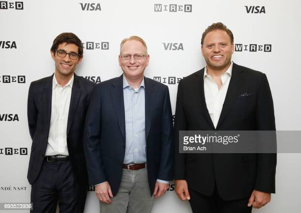Editor of WIRED Nicholas Thompson SVP of Devices at Amazon David Limp and Chief Business Officer of Conde Nast Howard Mittman attend WIRED Business...