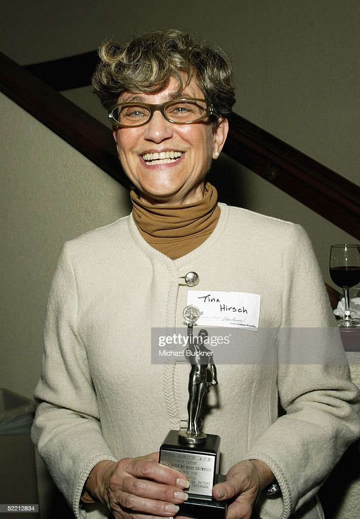 Editor Tina Hirsch holds the nomination for Best Edited Miniseries or Motion Picture for Commercial Television for 'Back When We Were Grownups' at the nominee reception for the American Cinema Editors Eddie Awards on February 17, 2005 at the Kodak Atrium in Hollywood, California.