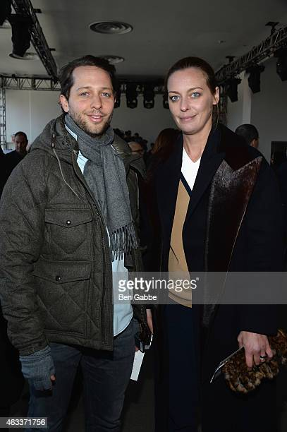 EditoratLarge at Harpers Bazaar Derek Blasberg and Vanity Fair Fashion Style Director Jessica Diehl attend the Jason Wu fashion show during...