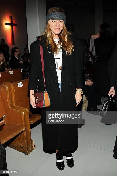 Editoratlarge for NYLON magazine Dani Stahl attends Thom Browne Women's fashion show during MercedesBenz Fashion Week Fall 2014 at Center 548 on...