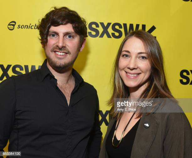 Editoratlarge of TechCrunch Josh Constine and Megan West of SoundCloud attend 'Spotify and the New Music Economy' during 2017 SXSW Conference and...