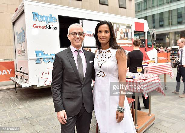 Editorial Director Jess Cagle and 'Top Chef' host Padma Lakshmi attend the cookoff hosted by People's 'Great Ideas' food truck on NBC's Today Show on...