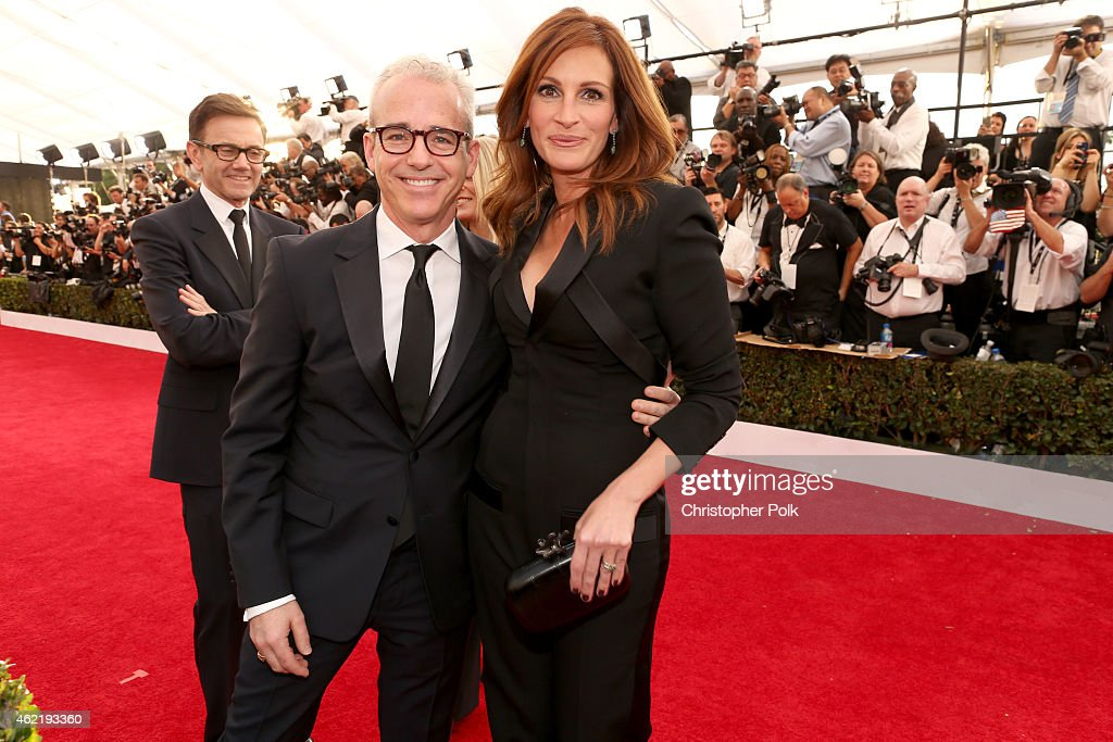 Editorial Director of Entertainment Weekly and People Jess Cagle and actress Julia Roberts attend TNT's 21st Annual Screen Actors Guild Awards at The...