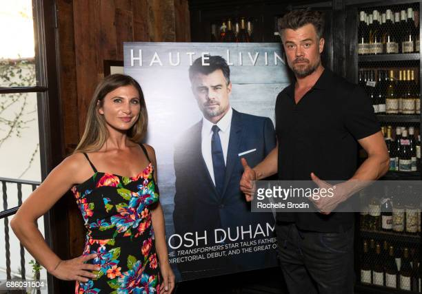EditorinCheif Laura Schreffler and actor/director Josh Duhamel attend Haute Living Celebrates Josh Duhamel Presented By Westime at AOC on May 19 2017...