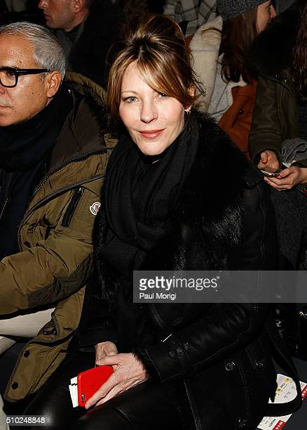 Editorinchief and VP of Brand Content at US Elle magazine Robbie Myers attends the Hood By Air 2016 fashion show on February 14 2016 in New York City