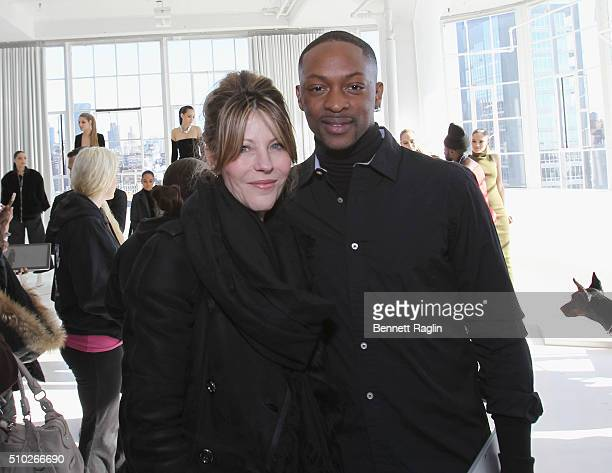 Editorinchief and VP of brand content of the US edition of Elle Roberta 'Robbie' Myers and fashion designer LaQuan Smith pose during SheaMoisture at...