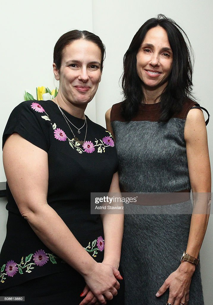 Editor-in-Chief ar DuJour Magazine Nicole Vecchiarelli (L) and attend an intimate evening of friends and colleagues at Mr. Colin Dougherty's New York City apartment on February 5, 2016 in New York City.
