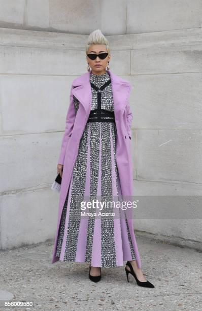 EditorinChief at Citizen K Arabia Esther Quek seen during Paris Fashion Week Womenswear Spring/Summer 2018 on September 30 2017 in Paris France
