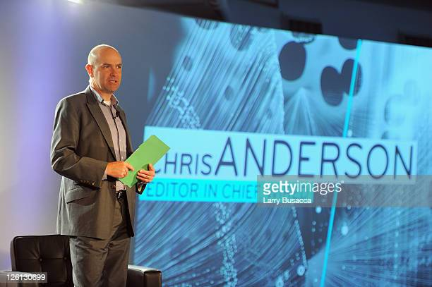 EditorinChief Chris Anderson speaks during NExTWORK with sessions from WIRED and The Economist sponsored by Juniper Networks at Tribeca Rooftop on...