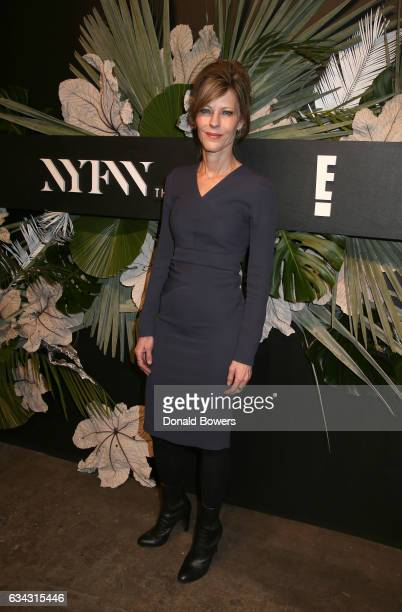 EditorinChief ELLE Robbie Myers attends E ELLE IMG celebration to kickoff NYFW The Shows on February 8 2017 in New York City